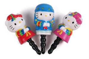 Hanbok-Clad Hello Kitty Phone Plugy small