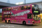 Eva Air Hello Kitty Theme Bus Small