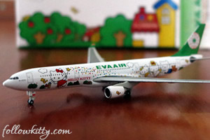 Eva Air Hello Kitty Airbus Plane Model Small
