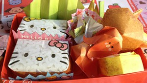 Hello Kitty DIY Bento Paper Craft Origami Small