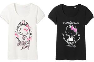 Uniqlo Hello Kitty Short Puff Sleeves Shirt Small