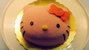 Cake in Hello Kitty Cafe Taipei