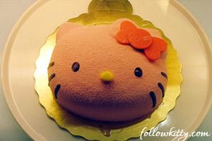 Cake in Hello Kitty Cafe Taipei