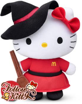 """香港麥當勞""""仲夏童話Hello Kitty""""套裝之小魔女Kitty"""