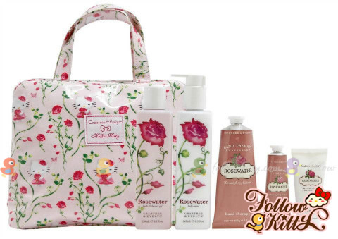Crabtree & Evelyn Rosewater X Hello Kitty Set
