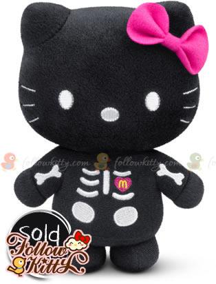 """麥當勞""""仲夏童話Hello Kitty""""神祕嘉賓登場:黑夜骷髏Kitty"""