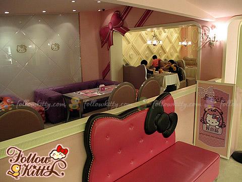 Kitty-shaped Sofa at the Entrance of Hello Kitty Café  (Hello Kitty Sweets Café)