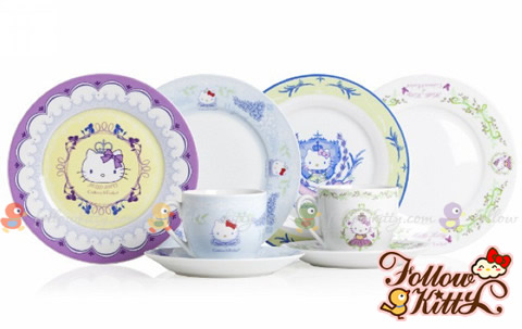 Crabtree & Evelyn Princess Day X Hello Kitty Cups, Saucers and Small Plates