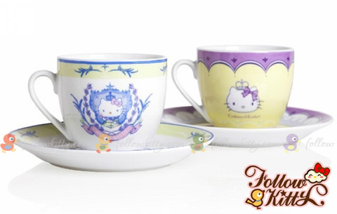 Crabtree & Evelyn Princess Day X Hello Kitty Cups and Saucers