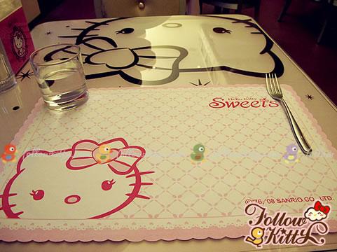 Kawaii Kitty Tablemat (Hello Kitty Sweets Café)