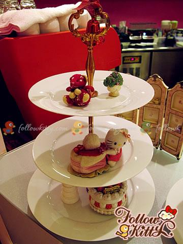 Dessert Display Plates on the Corner of Drink Bar (Ground Floor)