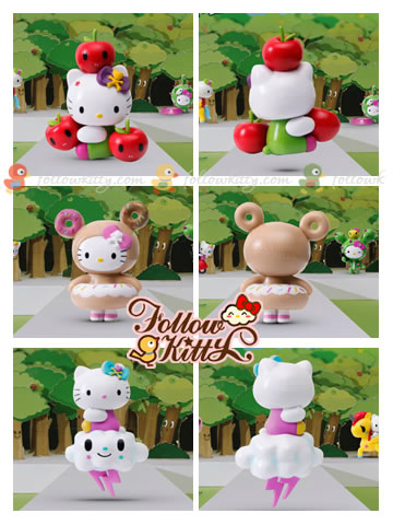 7-Eleven Hello Kitty X tokidoki : Apple Kitty, Donut Kitty, Magic Cloud Kitty
