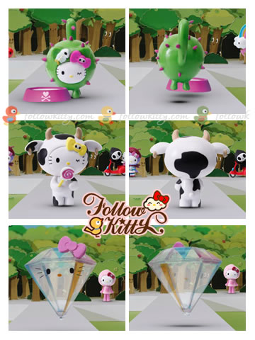 7-Eleven Hello Kitty X tokidoki : Mini Cactus Kitty, Cow Kitty, Diamond Kitty