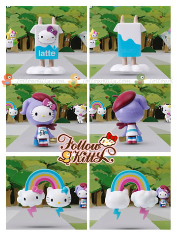 7-Eleven Hello Kitty X tokidoki : Latte Kitty, Adieu Kitty, Rainbow Kitty