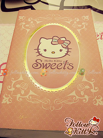 Smiling Kitty on the Menu Cover of Hello Kitty Café (Hello Kitty Sweets Café)