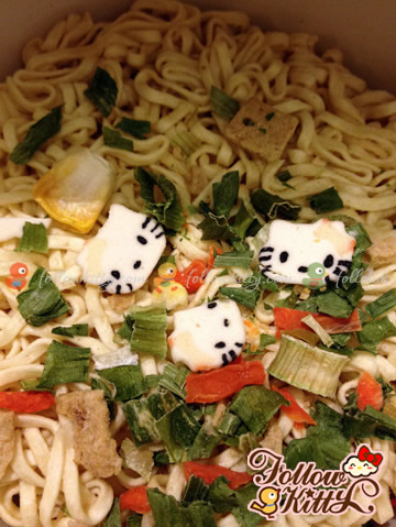Hello Kitty Mini Cup Noodles - Cute Hello Kitty Face Narutomaki