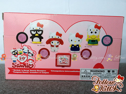 Back of the Box of Sanrio 50 Anniversary Stamper Set