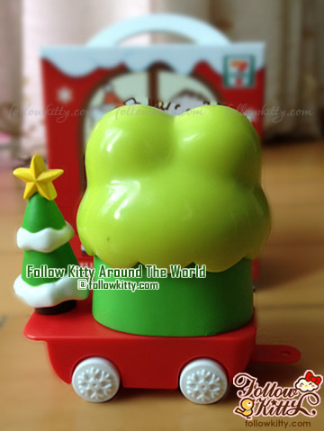 Back of Kero Kero Keroppi Candy Trolley of Hello Kitty Sweet Delight Xmas Edition