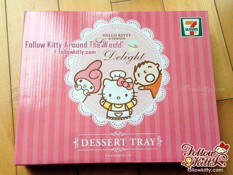 The Box of Dessert Tray of 7-Eleven Hello Kitty Sweet Delight