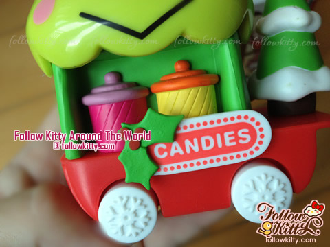 Lovely Kero Kero Keroppi Candy Trolley of Hello Kitty Sweet Delight Xmas Edition