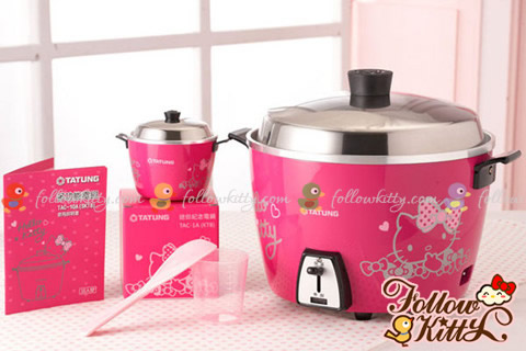 Peach Red Edition of Hello Kitty Rice Cooker