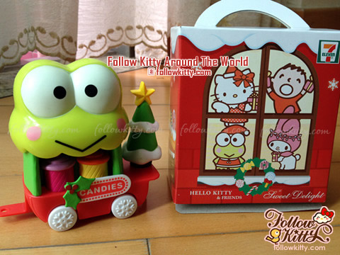 Kero Kero Keroppi Candy Trolley of Hello Kitty Sweet Delight Xmas Edition