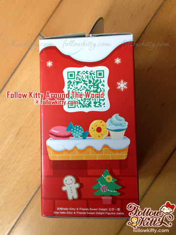 Side of The Box of 7-Eleven Hello Kitty Sweet Delight Xmas Edition