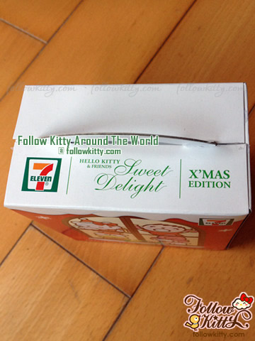 Top of The Box of 7-Eleven Hello Kitty Sweet Delight Xmas Edition