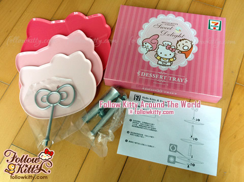 Trays, Stands and Instruction inside Dessert Tray of 7-Eleven Hello Kitty Sweet Delight