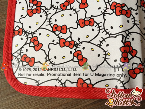 限量版Hello Kitty誕生祭萬用收納包的細節