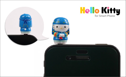 Korean Hanbok-clad Hello Kitty iPhone Plugy - Blue