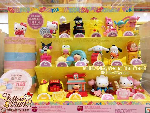7-11裡Hello Kitty & Friends Sweet Delight的第二期公仔陳列