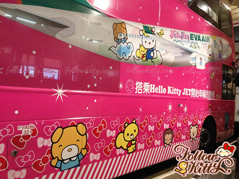 Eva Air Hello Kitty Jet Theme Bus