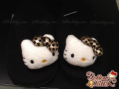 Hong Kong b+ab X Hello Kitty Flip-Flop (Black)