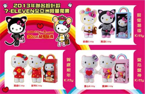 台灣7-11 Hello Kitty x tokidoki 限量玩偶