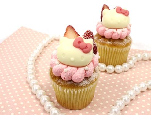 Cloudy x Hello Kitty Cupcakes - Kawaii Strawberry