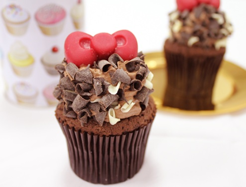 Cloudy x Hello Kitty Cupcakes - Expresso Chocolate Cupcake