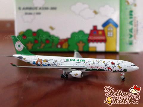 """長榮航空空中巴士A330-300""""Hello Kitty魔法機""""1:500模型飛機"""