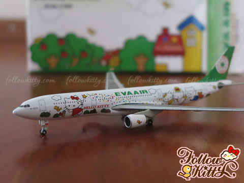 Eva Air Hello Kitty Airbus A330 Plane Model