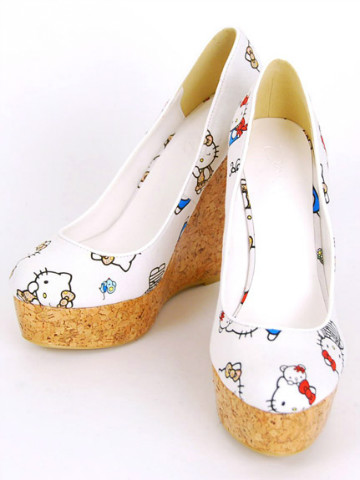 Nina Mew x Hello Kitty 2013 Spring Collection - Cork Wedge Pumps