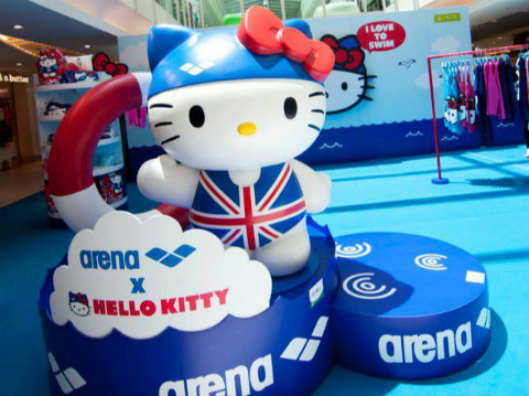 Arena 2012 Hello Kitty Crossover Waterwear
