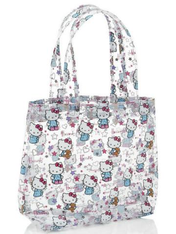 Harrods Hello Kitty Loves Teddy小透明袋