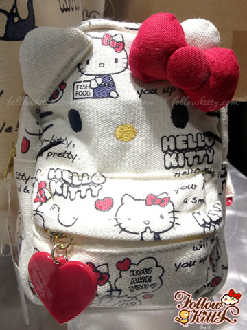 Hello Kitty Canvas Backpack Shape Pouch