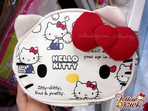 Hello Kitty Canvas Large Cosmetics Pouch