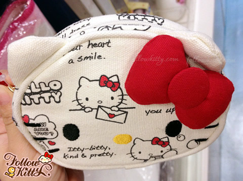 Hello Kitty Canvas Small Cosmetics Pouch