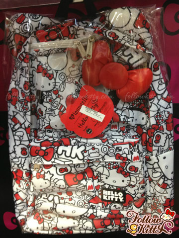 Loungefly Hello Kitty Red and White All Over Print Backpack