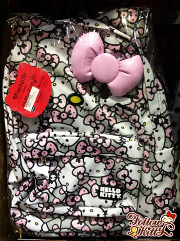 Loungefly Hello Kitty Pink/Grey/White All Over Print Backpack