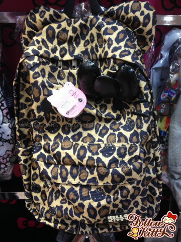 Loungefly Hello Kitty Leopard Nylon Backpack
