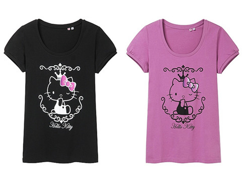 Uniqlo x sanrio 2013 graphic t shirt summer collections for Hello kitty t shirt design