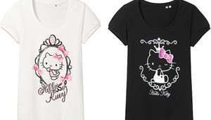 Uniqlo Hello Kitty Short Puff Sleeves Shirt Small